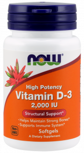 NOW Vitamin D-3 2000 М.Е. (240 кап)