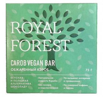 Royal Forest Carob Vegan Bar (обжаренный кэроб) 75гр